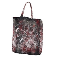 Grunge Pattern Giant Grocery Zipper Tote