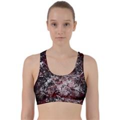 Grunge Pattern Back Weave Sports Bra