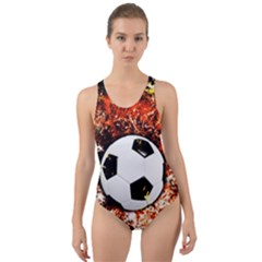 Football  Cut Out Back One Piece Swimsuit