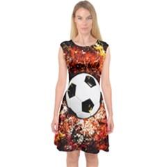 Football  Capsleeve Midi Dress