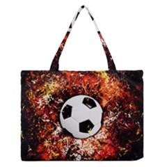 Football  Zipper Medium Tote Bag
