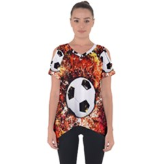 Football  Cut Out Side Drop Tee