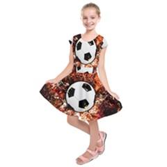 Football  Kids  Short Sleeve Dress