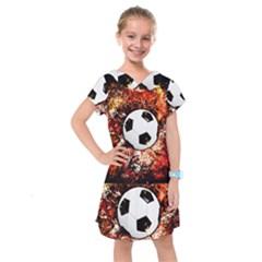 Football  Kids  Drop Waist Dress