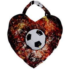 Football  Giant Heart Shaped Tote