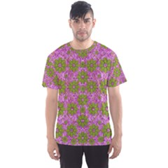 Paradise Flowers In Bohemic Floral Style Men s Sports Mesh Tee