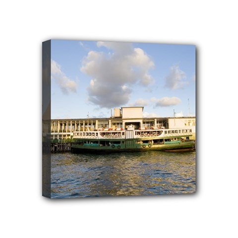 Hong Kong Ferry Mini Canvas 4  X 4  (stretched)