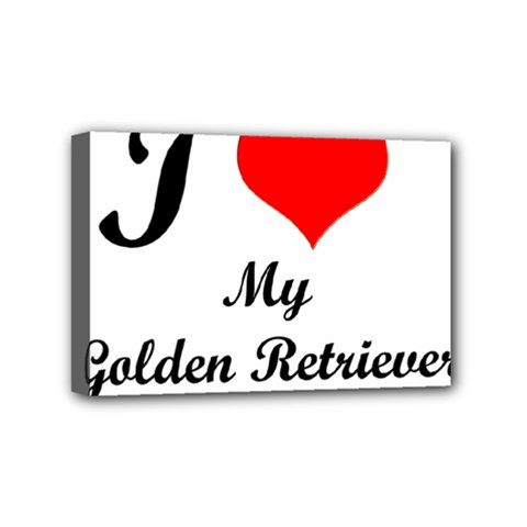 I Love Golden Retriever Mini Canvas 6  X 4  (stretched)