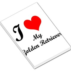 I Love Golden Retriever Large Memo Pads 5.5 x4.125