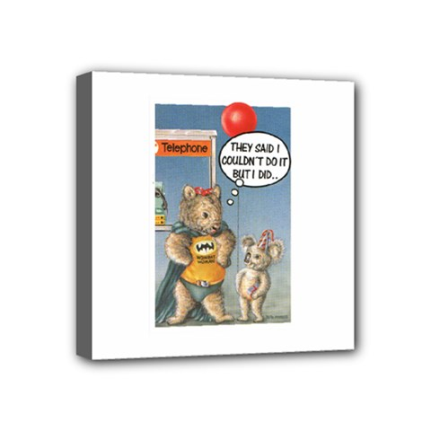 Wombat Woman 4  x 4  Framed Canvas Print