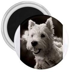 Westie Puppy Large Magnet (round)