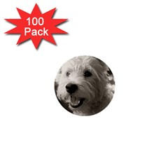 Westie Puppy 100 Pack Mini Button (round)