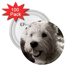 Westie.puppy 100 Pack Regular Button (Round)