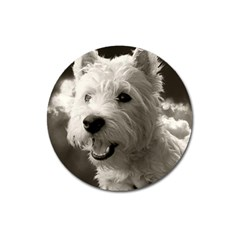 Westie.puppy Large Sticker Magnet (Round)
