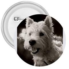 Westie Puppy Large Button (round)