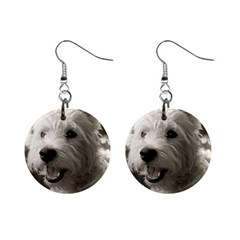 Westie Puppy Mini Button Earrings