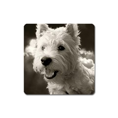 Westie.puppy Large Sticker Magnet (Square)