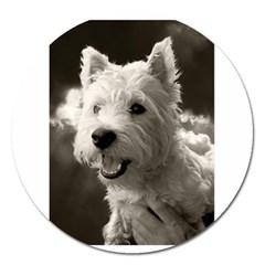 Westie.puppy Extra Large Sticker Magnet (Round)