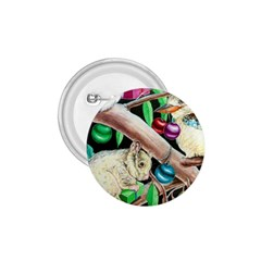 Christmas Kooka Twins  Small Button (round)
