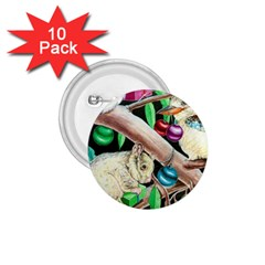 Christmas Kooka Twins  10 Pack Small Button (round)