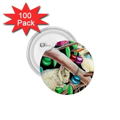 Christmas Kooka Twins  100 Pack Small Button (round)