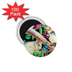 Christmas Kooka Twins  100 Pack Small Magnet (Round)