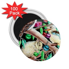 Christmas Kooka Twins  100 Pack Regular Magnet (round)
