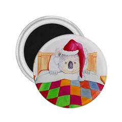 Santa In Bed  Regular Magnet (Round)