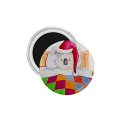 Santa In Bed  Small Magnet (Round)