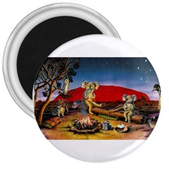 Uluru  Large Magnet (Round)
