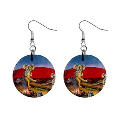 Uluru  Mini Button Earrings