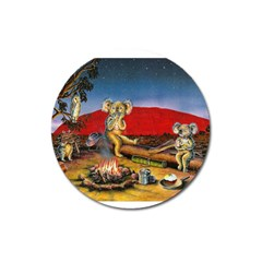 Uluru  Large Sticker Magnet (Round)