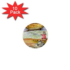 London Bridge  10 Pack Mini Magnet (Round)