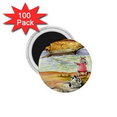 London Bridge  100 Pack Small Magnet (round)
