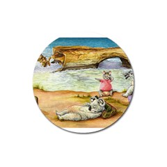 London Bridge  Large Sticker Magnet (Round)