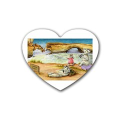 London Bridge Jpg Rubber Drinks Coaster (Heart)