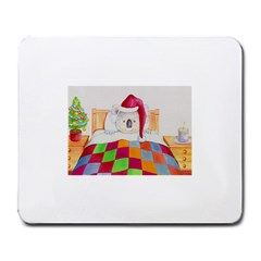 Santa In Bed Jpg Large Mouse Pad (Rectangle)