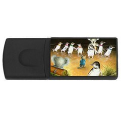 Penguin Parade  4gb Usb Flash Drive (rectangle)