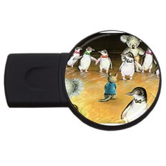 Penguin Parade  2gb Usb Flash Drive (round)