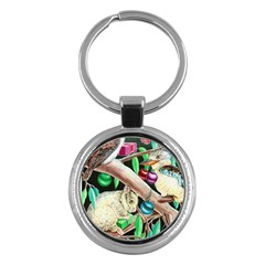 Christmas Kooka Twins  Key Chain (round)