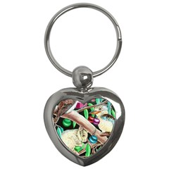 Christmas Kooka Twins  Key Chain (Heart)