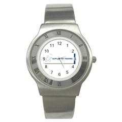 Alpha Star Stainless Steel Watch (Round)