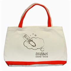 Dream Come 02 Red Tote Bag