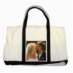 Handbag Wedding Kiss   Copy Two Toned Tote Bag