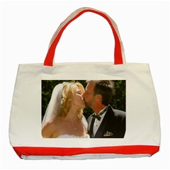 Handbag Wedding Kiss   Copy Red Tote Bag