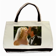 Handbag Wedding Kiss   Copy Twin Sided Black Tote Bag