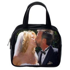 Handbag Wedding Kiss   Copy Single-sided Satchel Handbag