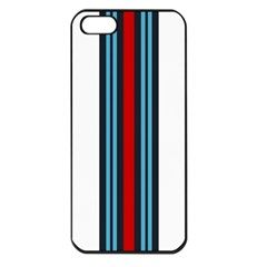 Martini White No Logo Apple iPhone 5 Seamless Case (Black)