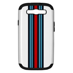 Martini White No Logo Samsung Galaxy S III Hardshell Case (PC+Silicone)