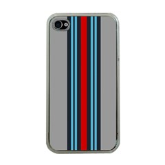 Martini No Logo Gray Apple Iphone 4 Case (clear)